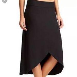 Athleta ribbon skirt knit high low stretch pocket
